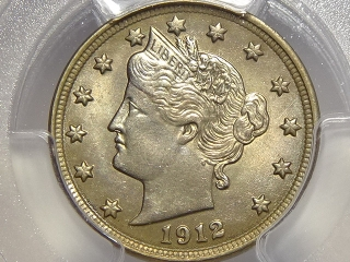 1912 Liberty Nickel MS65 PCGS