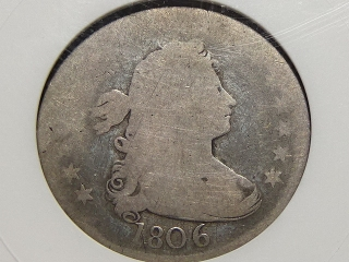 1806 Draped Bust Quarter Fair-2 ANACS