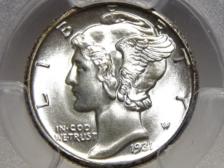 1931-D Mercury Dime MS65 PCGS