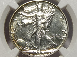 1937 Walking Half PF61 NGC