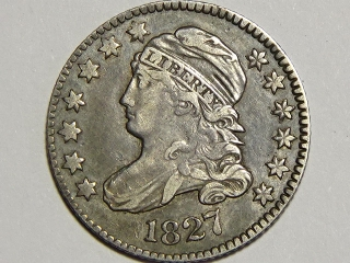 1827 Bust Dime XF40
