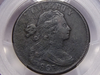 1803 Large Cent VF Details PCGS