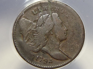 1794 Half Cent F12 Details ANACS