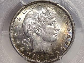 1900-S Barber Quarter MS61 PCGS