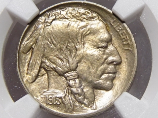 1913-D T-2 Buffalo Nickel MS66+ NGC