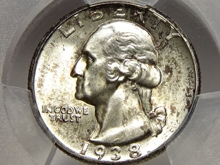 1938 Washington Quarter MS64 PCGS