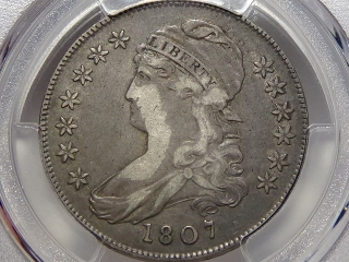 1807 Capped Bust Half VF20 PCGS Small Stars