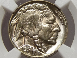 1938-D/S Buffalo Nickel MS67 NGC