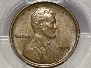 1919-S Lincoln Cent MS64 PCGS Brown