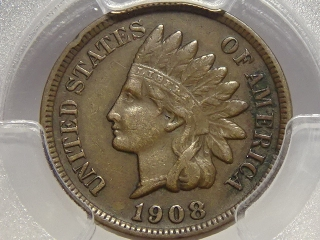 1908-S Indian Cent VF35 PCGS