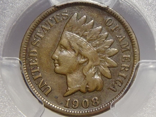 1908-S Indian Cent VF25 PCGS