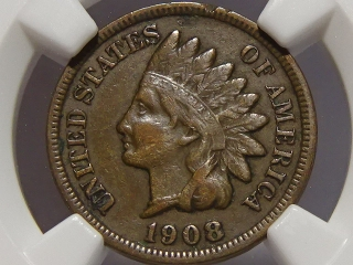 1908-S Indian Cent VF35 NGC