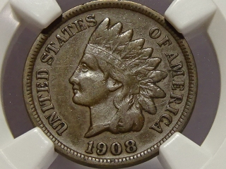 1908-S Indian Cent XF40 NGC