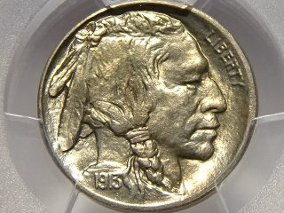 1913-D T-2 Buffalo Nickel MS66 PCGS Gold Shield