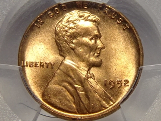 1952 Lincoln Cent MS65 PCGS Red