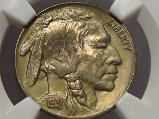 1931-S Buffalo Nickel MS65 NGC