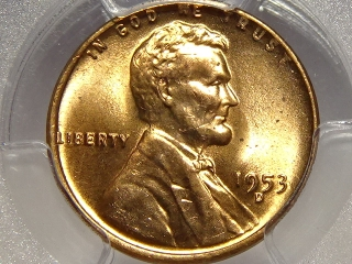 1953-D Lincoln Cent MS65 PCGS Red