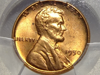 1950 Lincoln Cent MS65 Red PCGS