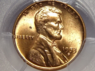 1953-D Lincoln Cent MS65 Red PCGS