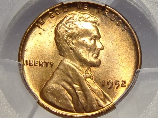 1952 Lincoln Cent MS65 Red PCGS