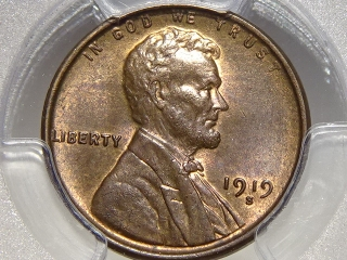1919-S Lincoln Cent MS63 Brown PCGS